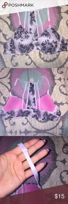 BRAND NEW NEVER WORN PINK BRALETTE This is a brand-new, never worn pink brawl it. It is a size 32 a. It is a front clasp bra let. The clasp is in perfect shape! It does have adjustable straps. PINK Victoria's Secret Intimates & Sleepwear Bras