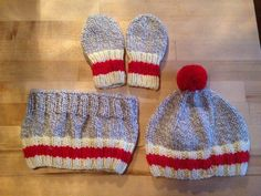 Trio bas de laine pour bébé. Knitted Hats, Creations, Knitting, Fashion, Stockings, Wool, Knit Hats, Moda, Tricot