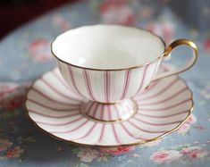Very Lovely Noritake pink vintage tea cup