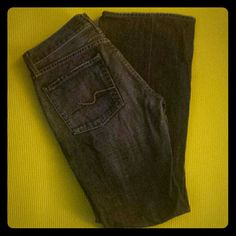 """7 for all mankind jeans Bootleg jeans in excellent condition - 7 for all mankind, size 27, inseam 30"""" 7 for all Mankind Jeans Boot Cut"""