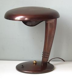 "Gorgeous! American Deco Machine Age Norman Bel Geddes Streamline ""Cobra Lamp"" Eames Era 