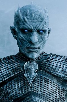 Night's King: inspiration for white walker. Metal necklace? Liquid latex horns!