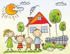 dibujos de familias unidas a color - Buscar con Google