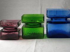 Glas, Hyasint vaser - Riihimäen PALA - Helena Tynell Nordic Design, Helsinki, Finland, Scandinavian, Glass Art, Upcycle, Bottles, Art Deco, Ceramics