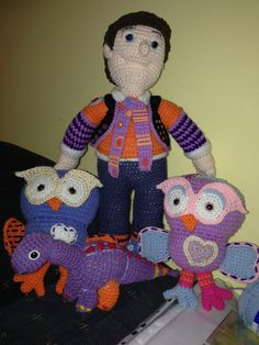 # crochet # toys # giggle and hoot amigurumi Crochet Toys, Crochet Ideas, Baby Toys, Stuff To Do, Dinosaur Stuffed Animal, Projects To Try, Colours, Crafty, Knitting