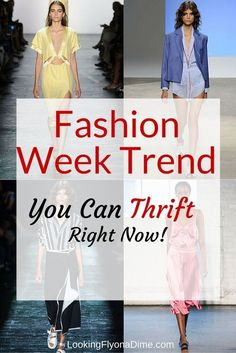 The fashion week trend you can find at your local thrift shop
