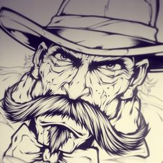 A little Wild Bill action. Early stage. #western #poker #gamble #gunslinger #art #absorb81 #digitalink #new #style #instaart #follow #design