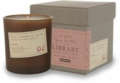 Paddywax Library Candles: Pairing favorite quotes with exquisite fragrances, we pay homage to the literary greats.