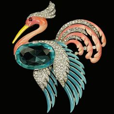 {Daily Jewel} Trifari Alfred Phillippe Flying Heron Brooch ‹ Haute TrampHaute Tramp
