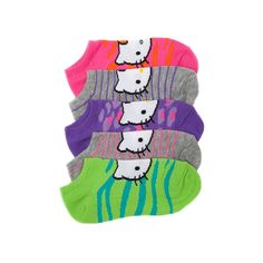 Shop for Tween Hello Kitty Neon Socks in Assorted at Journeys Kidz. Shop today for the hottest brands in mens shoes and womens shoes at JourneysKidz.com.Neon Hello Kitty footies. Assorted 5 pack. Fits shoe sizes 4-6. Journeys Kidz, Colorful Socks, Kids Clothing, Tween, Men's Shoes, Hello Kitty, Kids Outfits, Youth, Pajamas