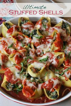 Ultimate Stuffed Shells with Italian sausage, mushrooms, spinach, and cheese | The Culinary Chronicles