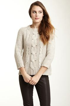 Velvet Larue Cable Knit Sweater