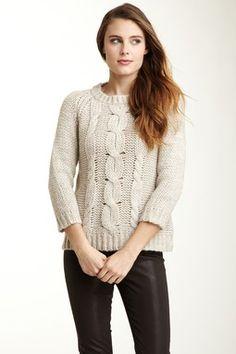 Velvet Larue Cable Knit Sweater