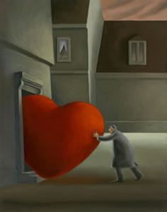 In het hart van de zorg, Berit Kruger Johnsen I Love Heart, With All My Heart, Happy Heart, Where The Heart Is, Illustrations, Illustration Art, Foto Art, Love Symbols, Heart Art