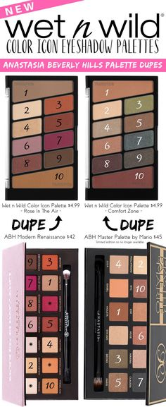 The new and revamped Wet n Wild Color Icon Eyeshadow palettes are really giving Anastasia Beverly Hills palettes a run for their money...literally!
