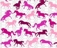 Horse Bits Pinkberry fabric by smuk on Spoonflower - custom fabric