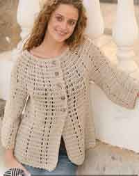 Jacket in Muskat with 3/4 sleeves Click on the site, the pattern is included.