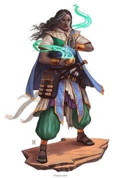 Garundi Female - Pathfinder character art
