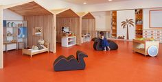 Kids playground design must have safety, goal, and theme. Here are several considerations before constructing a playground. Daycare Design, Classroom Design, School Design, Kindergarten Interior, Kindergarten Design, Playground Design, Indoor Playground, Children Playground, Playground Ideas