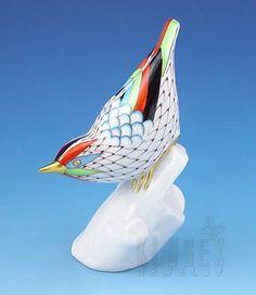Hollohaza Fishnet Bird Figurine Wings, Fishnet, Bird, Outdoor Decor, Hungary, Ceramics, Gift Ideas, Animals, Shopping