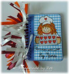 Altered Art, Spiral, Sprinkles, Love, Artwork, Cards, Handmade, Stamps, Notebook