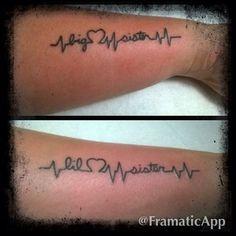 Big sis and lil sis tatts 27 Heart-Melting Sister Tattoos Time Tattoos, Body Art Tattoos, Cool Tattoos, Tatoos, Heart Tattoos, Awesome Tattoos, Nail Tattoo, Piercing Tattoo, Ekg Tattoo