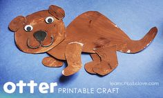 { Printable Otter Craft }