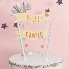 Birthday Room Decorations, Diy Birthday Banner, Birthday Tags, Birthday Cake Toppers, Cardboard Christmas Tree, Bolo Cake, Diy Cake Topper, Christmas Crafts For Kids To Make, Cake Banner