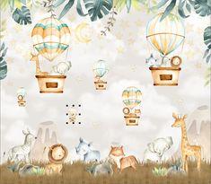 Little Hands Wallpaper, Kids Room Wallpaper, Love Wallpaper, Cartoon Wallpaper, Giraffe Party, Cute Giraffe, Wall Stickers Baby Boy, Baby Boy Favors, Scrapbook Bebe