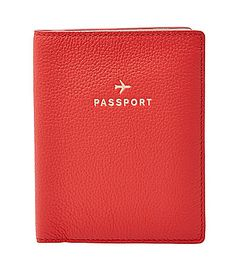 Fossil Leather Passport Case #Dillards