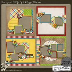 Backyard BBQ - 12x12 QuickPage Album :: 12x12 Quick Pages :: Hybrid, Quickpages & Printables :: SCRAPBOOK-BYTES