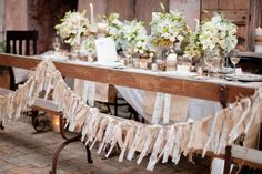 Burlap and lace garland-this would look great on a christmas tree.