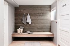 Sauna departments in residential buildings in Finland are very common. This sauna department got a Sauna House, Sauna Room, Portable Sauna, Outdoor Sauna, Sauna Design, Finnish Sauna, Spa Rooms, Laundry Room Bathroom, Modern Shower