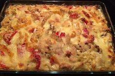 Chicken – spaetzle casserole 3 - All Recipes Chicken Salad Recipes, Easy Salads, Healthy Salad Recipes, Raw Food Recipes, Healthy Dinner Recipes, Pasta Recipes, Crockpot Recipes, Vegetarian Recipes, Easy Meals