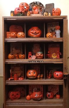 Vintage Halloween - Paper Mâché - Candy Containers - Candles