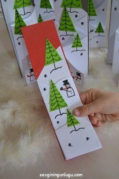 christmas cards, handmade, paper crafts, christmas kids activity, yeniyıl kartı, snowman cards