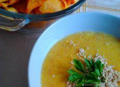 Zupa krem z kukurydzy i chrupiące nachosy