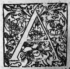 Salomon de Roy, A initial cap with reversed stress, Utrecht, 1609