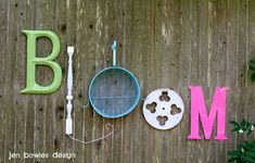 Bloom!  #recycled #junk #letters #garden