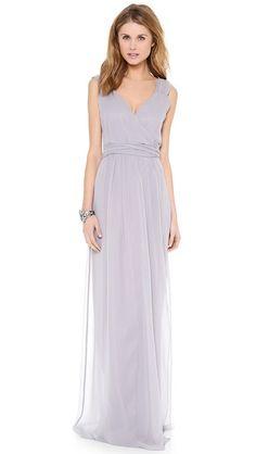 Joanna August Newbury Cap Sleeve Wrap Dress Silver Bells-- color of bridesmaids dresses