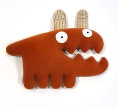 Dog- handmade plush animal. by alelale via Etsy.