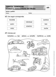 crucigrama medios de transporte - Buscar con Google