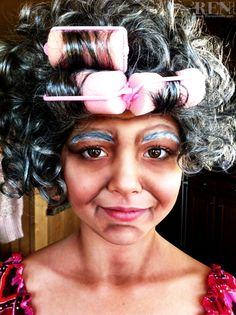 Old Lady Halloween / Stage Makeup by Renee Keith