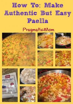How To: Make Authentic But Easy Paella. It's easy to make and my kids love it! :: PragmaticMom #recipe #SpanishFood