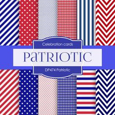 Independence Day Digital Paper: Fourth of by DigitalPaperStore