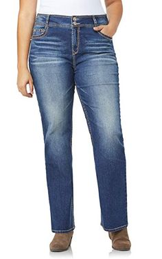 WallFlower Women's Plus-Size InstaStretch Luscious Curvy Bootcut Jeans *** Be sure to check out this awesome product. (This is an affiliate link) Curvy Plus Size, Plus Size Jeans, Wallflower Jeans, Buy Jeans, Junior Plus Size, Fashion Hub, Jeans Button, Juniors Jeans, Cropped Cardigan