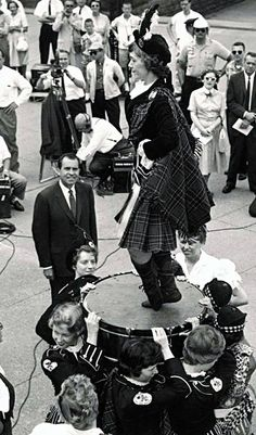 Dancer performs the Highland Fling to Richard Nixon's delight.