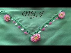 360- Harika Kasımpatı Çiçeğinin Ara ve Yaprak Yapımı - YouTube Needle Lace, Baby Knitting Patterns, Elsa, Crochet Necklace, Jewelry, Youtube, Jewlery, Crochet Collar, Bijoux