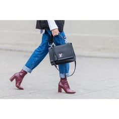 - Add a pop of color to everyday denim with of-the-moment burgundy.