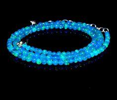 "Wonderful Priba Ethiopian Opal Roundelle Opal Necklace Loose Gemstone 16.25"" #Opalcreation #Necklace"